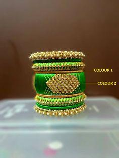 Green and Gold Designer Bangle Set