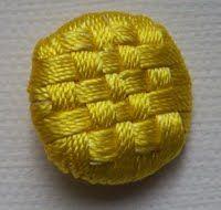 Checkerboard Button - Basket Weave