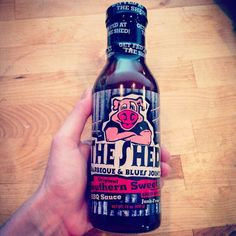 So stoked to have found this at the grocery store! I used to live right across from The Shed! They have the BEST bbq sauce and the BEST potato salad ever. I could drink this stuff! #theshedbbq #shedhead #mississippi