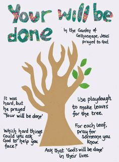 Flame: Creative Children's Ministry: Gethsemane Play Dough Mat: Your Will be Done