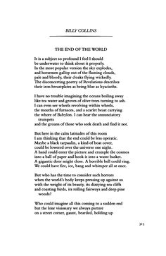 The End of the World by Billy Collins | Poetry Magazine