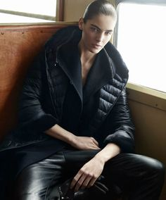 Hilary models fall outerwear from the Max Mara Cube brand