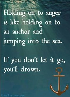 """""""Holding on to anger ..."""""""