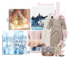 """""""Romantic Christmas"""" by mkanzee ❤ liked on Polyvore featuring Balmain, Calypso St. Barth, Juicy Couture, Valentino, Abercrombie & Fitch, Banana Republic, Michael Antonio, Bling Jewelry, romantic and winter2015"""