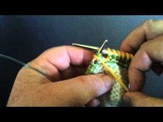 Twin Stitch Purl - TSP - short row method - YouTube