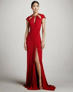 Amazing cut out red dress- Badgley Mischka