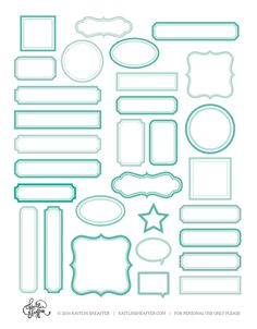 Print & Cut Series | Turquoise Labels Free download for you to use with your Silhouette or cut out by hand!