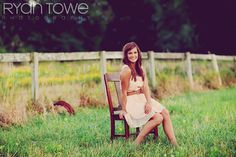 Setting-really like the chair in the field with fence