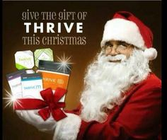 What are you giving for Christmas to the people that you love? You can give them a new TV, clothes, or even a new car. Or you could give them a month worth of Thrive.  www.anat711.le-vel.com