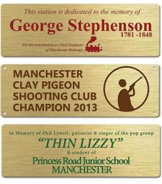 b72756b5f208 Brass Plate 150mm x 50mm - Mechanically Engraved Brass Plaques