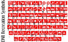 DNR Recreation Symbols font by Minnesota Department of Natural Resources - FontSpace
