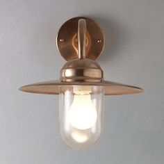 Buy Nordlux Luxembourg Outdoor Wall Light, Copper Online at johnlewis.com