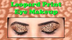 Leopard Print Eye Makeup