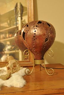 Creative Daze with Geri: Gourd Lamp by Geri #Lamp