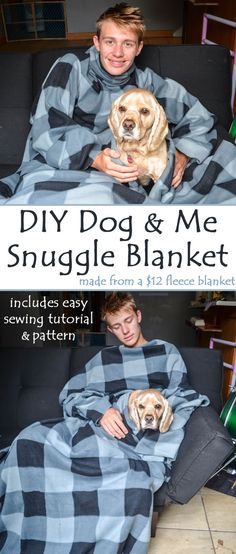 Diy dog christmas gifts tutorials 56 New ideas Diy Sewing Projects, Sewing Projects For Beginners, Sewing Tutorials, Sewing Crafts, Sewing Tips, Sewing Hacks, Sewing Ideas, Snuggle Blanket, Dog Christmas Gifts