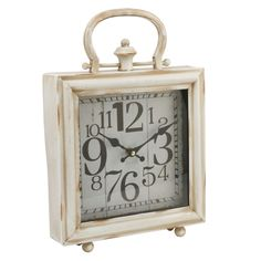 Derby Mantle Clock and Handle Antique Cream