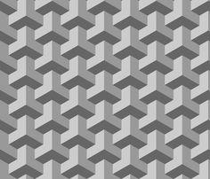 chevron 3 interlock fabric by sef on Spoonflower - custom fabric