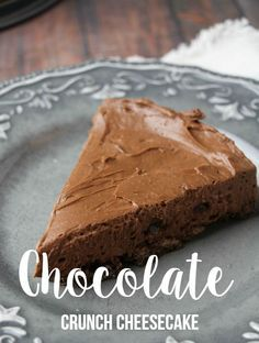 The Most Irresistible Chocolate Crunch Cheesecake Recipe (Don't say I didn't warn you!).  Make this for your next dessert!