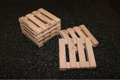 Shipping pallet coaster made from a real pallet by JVS Designs