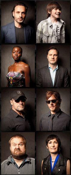 The Walking Dead- Andrew Lincoln, Chandler Riggs, Danai Gurira, David Morrissey, Michael Rooker, Norman Reedus, Robert Kirkman, Gale Anne Hurd