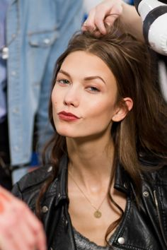 Karlie Kloss at Paul & Joe AW 2012/2013 backstages