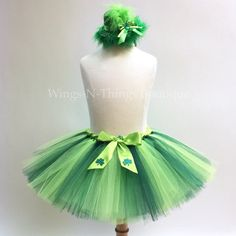 ST PATRICKS COSTUME Tutu Skirt Set w  Green Leprechaun Hat Headband c7b61aeeed00