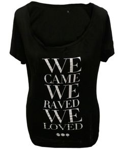 SHM #Ladies We Came We Raved We Lfoved Tunic (Black) | The Official Webstore for Swedish House Mafia
