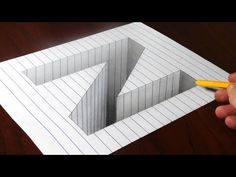 Drawing Step By Step Смотреть онлайн видео Drawing N Hole in Line Paper - Step by Step Trick Art Optical Illusions Drawings, Illusion Drawings, Art Optical, Illusion Art, 3d Art Drawing, Drawing Letters, 3d Drawings, Drawing Ideas, 3d Drawing Tutorial
