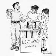 lemonade-stand - Norman Rockwell by x-ray delta one, via Flickr