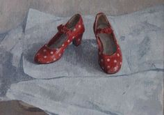 caroline frood Shoe Art, Painted Shoes, Kicks, Paintings, Illustrations, Clothing, Ankle Boots, Shoe, Outfits