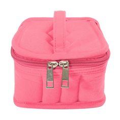 16 Bottles Essential Oil Carrying Portable Travel Holder Case Bag 5/10/15ml pink