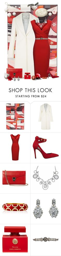 """""""Christmas Party"""" by cindy-for-fashion ❤ liked on Polyvore featuring Salvatore Ferragamo, Kaliko, Miusol, GUESS, Aspinal of London, Ciner, Lipsy, Dolce&Gabbana and Judith Leiber"""