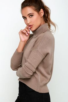 Brown Crop Sweater