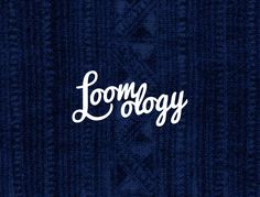 Logo Design - Loomology / Handcrafted framed textiles / Home Decor / Designed by Mimpy and Co. Logo Design, Textiles, Branding, Logos, Home Decor, Logo, Interior Design, Brand Identity, Branding Design