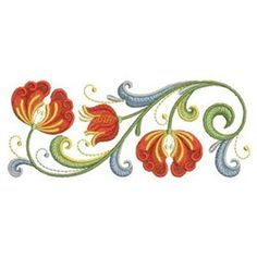 Ace Points Embroidery Design: Heirloom Floral 1.97 inches H x 4.92 inches W