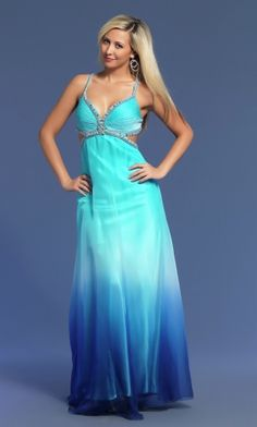 Sexy Blue Empire Empire Backless Baby Prom Dress PD32C7