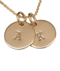 Tiny Tag Designs 2 Tag 14k Gold Filled Necklace #monogram