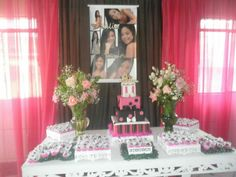 15 anos pink e preto