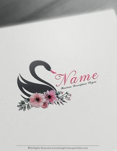 Create Your Own Online Black Swan Logo Design Ideas. Design Free Logo Online brings you the most advanced online Swans logo creator app. Free Logo Creator, Online Logo Creator, Wedding Logo Design, Wedding Logos, Logo Design Template, Logo Templates, Best Logo Maker, Fashion Logo Design, Fashion Logos