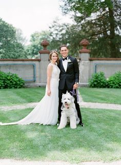 Photography : Jody Savage Photography Read More on SMP: http://www.stylemepretty.com/illinois-weddings/lake-forest/2016/11/11/a-vintage-meets-classic-chicago-wedding-sweet-pup-included/