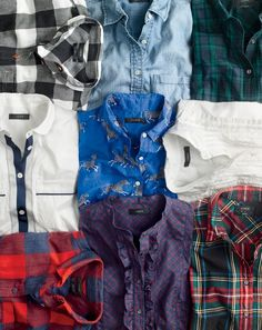 """J.Crew women's shirts. A no-brainer present. Because we've never heard anyone say they're """"not a shirt person."""""""