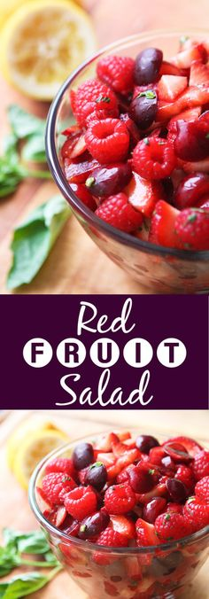 Red Fruit Salad | The prettiest, yummiest salad you will ever meet! This is great to have in the fridge for snacking and ALSO great for gatherings!