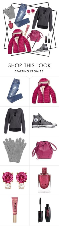 """Untitled #213"" by emily-dominguez321 ❤ liked on Polyvore featuring Hollister Co., Vince, Converse, L.K.Bennett, Gucci, Jemma Wynne, Too Faced Cosmetics and Stila"