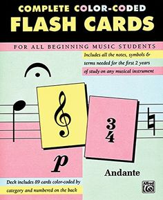 Complete Color Coded Flash Cards for All Beginning Music Students by Alfred Publishing http://www.amazon.com/dp/0739015575/ref=cm_sw_r_pi_dp_Kn.Cub0WY6NTM