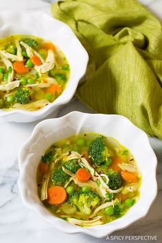 Light and Healthy Chicken Detox Soup Recipe & Cleanse | ASpicyPerspective.com (Paleo, Gluten Free, Dairy Free)