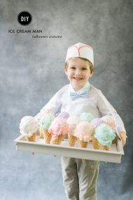 Creamery Crew,Ice Cream Wrangler, Purveyor of Scrumptious Cones. Whatever you want to call it; this DIY costume is cuuuuuute. Plus those faux cones will make for adorable decorations later on. It's simple really. With spackle, styrofoam, a little paint and a paper hat, your kiddo will be serving up delicious treats come Halloween. And for […]