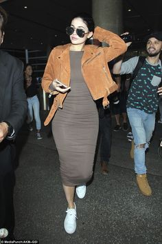 Touch down:Kylie Jenner had to say not only goodbye to culture and fine food but also Tyga as she touched down in Los Angeles on Wednesday, leaving her beau to continue his European tour