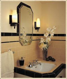 What color would you paint a mostly black and white bathroom? I'm remodeling my bathroom and going for a black and white vintagey but not period look. I've decided to go more intense on the black accents than usual with a black chair rail rather than white and the outside of my clawfoot tub will be ...