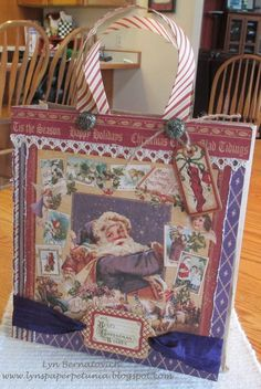 Gift Bag with Nutcracker Sweet Graphic 45 paper