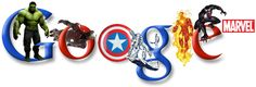 Cool marvel google logo